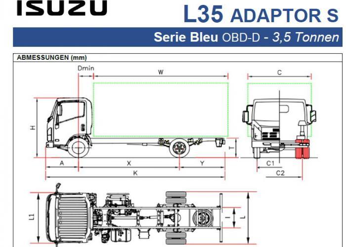 Preisliste und technische Form Isuzu L35 Adaptor